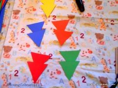 Cut out triangles
