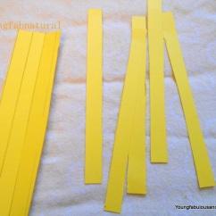 Cut 1 1/2 inch wide strips