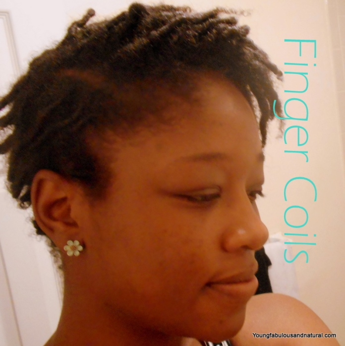 Finger Coils On Natural Hair Tapered